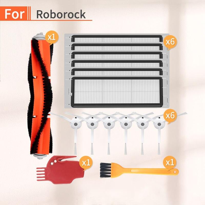 Robot Vacuum Cleaner Main Brush HEPA Filter Accessories For Millet 1/2 Roborock S50 S51 S6 S55 Vacuum Cleaner Parts