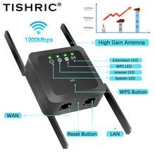 Repetidor wi-fi de longa distância 1200mbps gigabit roteador wi-fi extensor sinal impulsionador roteador wi-fi 5 ghz wi-fi roteador 5g wi fi amplificador