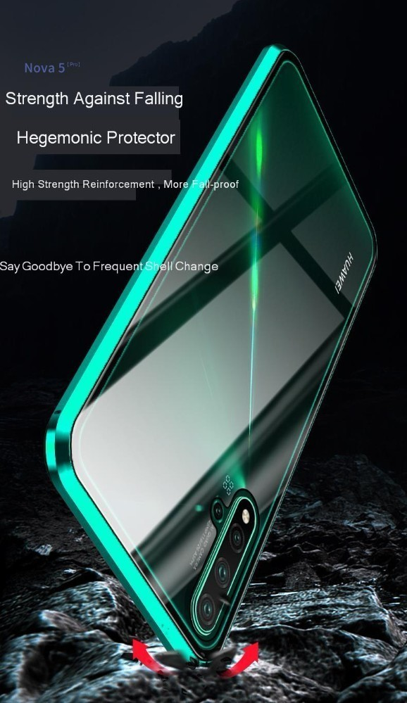 20 Metal Magnetic Case For Huawei Nova 5 Pro Mate 20 Double Sided 9H Tempered Glass Case On Nova 5 5i Honor 20 P30 Lite full Cover (5)