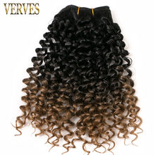 Synthetic Weaving Crochet Braid 65g/pack Hair 4 piece Curly Braid Heat Resistant Ombre Braiding Hair Weft Extensions Blonde(China)