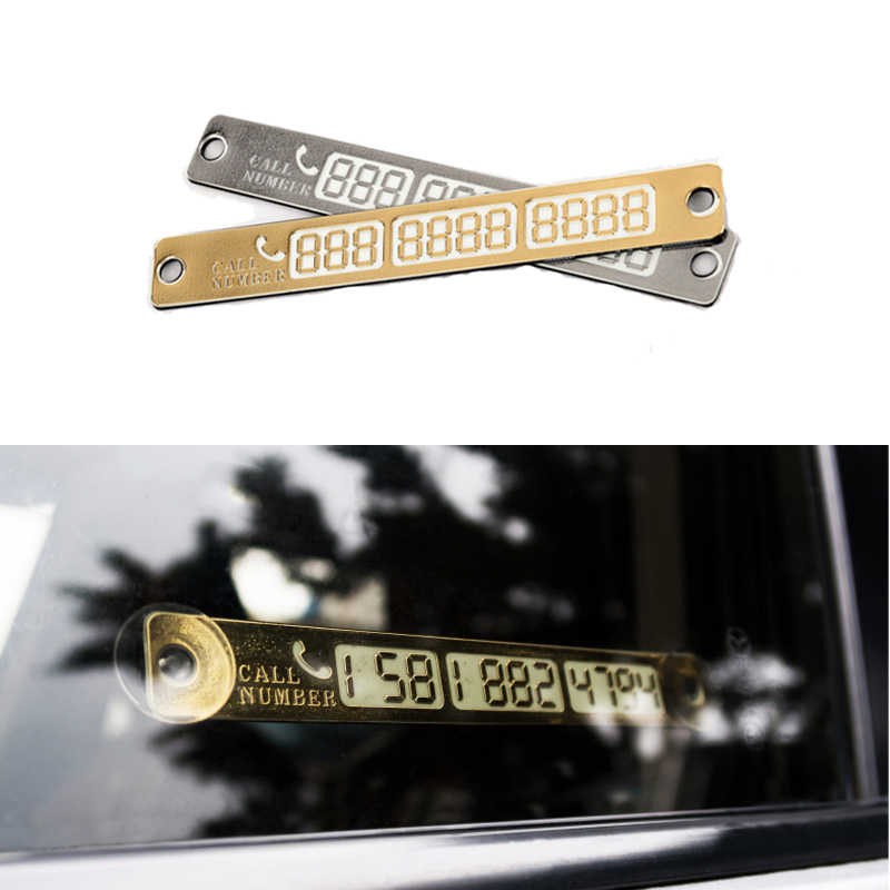 15*2 سنتيمتر بطاقة مواقف السيارات المؤقتة رقم الهاتف بطاقة إشعار ليلة ضوء مصاصة لوحة سيارة التصميم رقم الهاتف بطاقة 1 قطعة