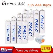 Batteries rechargeables AAA 1100mAh NI-MH 1.2 V 1.2 volts, 2 à 16 pièces