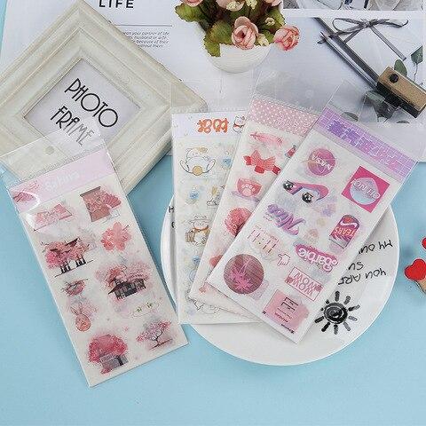 20 conjunto 1 lote kawaii papelaria adesivos ilha sonhando diario decorativo movel adesivos scrapbooking diy
