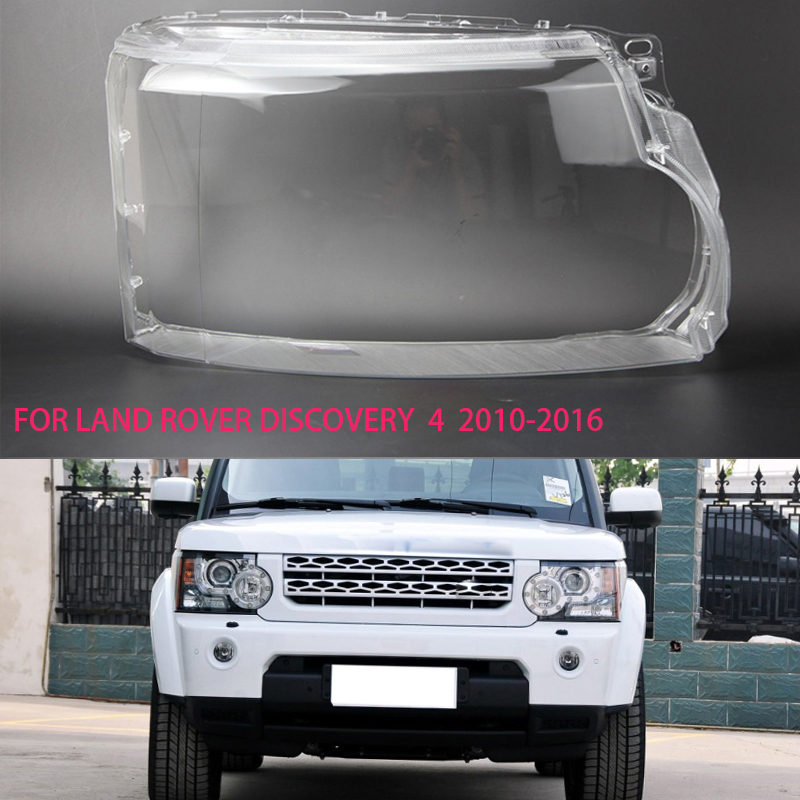 Land Rover discovery 4 2010-2013 için abajur lens far şeffaf konut Lens lamba kapağı şeffaf plastik kabuk