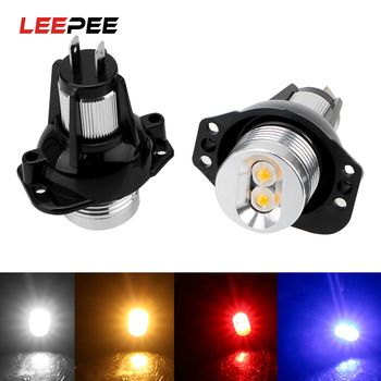 LEEPEE 1 Pair DC 12V Error Free Car Lamps LED Angel Eyes Marker Light Bulbs Decorative Lights Auto Fog Lamp for BMW E90 E91 image