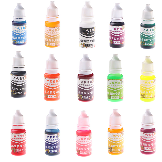 15 Colors 10ML Epoxy Resin Pigment UV Resin Coloring Dye Colorant Resin Pigment DIY Handmade Crafts Art Sets