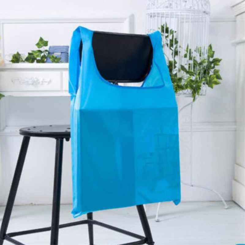 ETya nueva moda impermeable bolso de compras portátil plegable creativo reutilizable plegable bolsa de compras Eco bolsa de compras del mercado