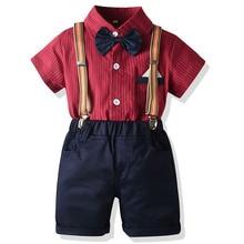 Suit Outfits Birthday Wedding Gentleman Baptism Baby-Boys Kids Cotton Pants Shirts Shirts