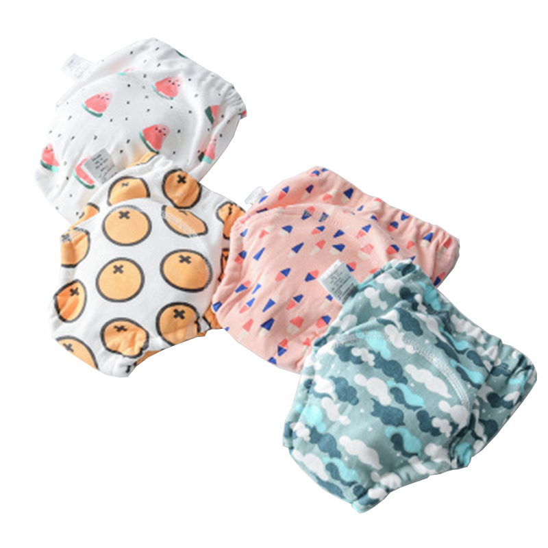 2020 Baby Diaphragm Waterproof Reusable Cotton Training Pant Infant Shorts Underwear Diaper Nappies Child Panties Nappy Changing