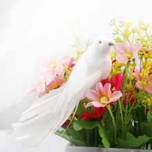 12 шт Искусственный птица белый заколка из перьев на дереве искусственный перо Декор птиц украшения для праздника Новогодние ёлки 13,5X5 см