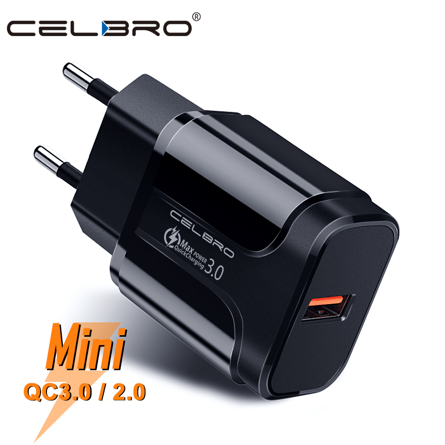 Quick Charge 3.0 USB Charger Adapter Wall Charger for Xiaomi Mi 9 SE 9T Huawei FCP Honor Phone EU Charger Usb Plug Quickcharge(China)