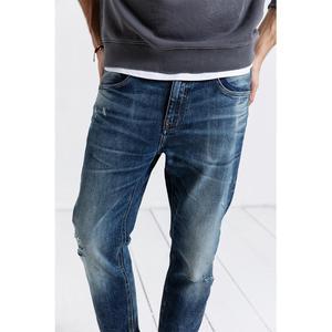 Image 2 - Мужские облегающие джинсы SIMWOOD, рваные джинсовые брюки, штаны из денима, 2019, уличная одежда батальных размеров, 190019