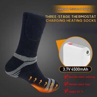 Calcetines térmicos con calefacción eléctrica para hombre y mujer, calcetín con batería recargable por USB, para deportes de invierno