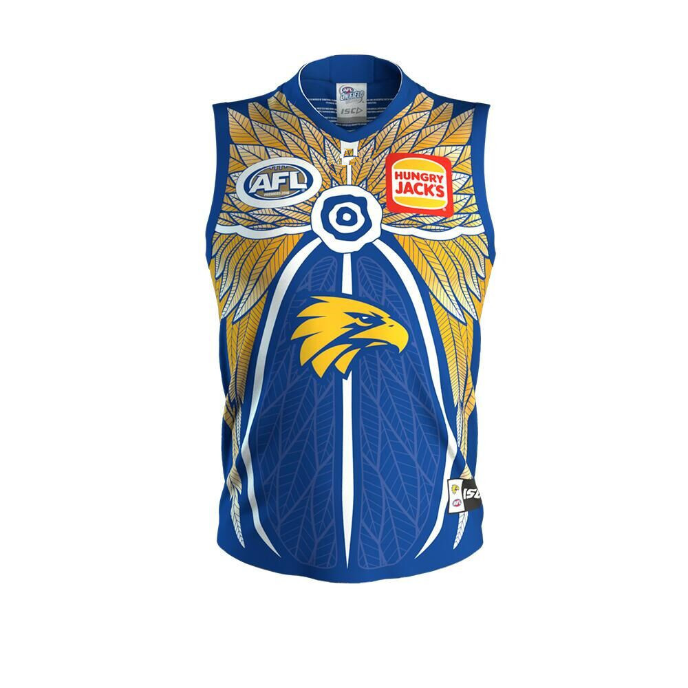AFL WEST COAST EAGLES INDIGENOUS 2019 MEN'S HOME JERSEY size S-3XL Print custom names and numbers Top quality Free shipping(China)