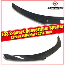 F33 2-doors Convertible Spoiler stem Wing M4 style Carbon Fiber For BMW 4 Series 420i 430i 435i rear 2014-2018