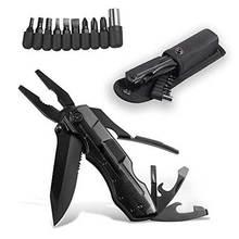 Augusttools, новинка, многофункциональные складные плоскогубцы, F87A-5H, отвертка, биты, нож, многофункциональные инструменты, плоскогубцы для кемпинга, инструменты для выживания на открытом воздухе