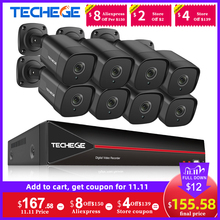Techege 8CH H.265 5MP POE NVR Kit Face Dectection CCTV Security Camera System Kit Outdoor Onvif Video Surveillance Camera Kits