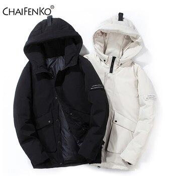 CHAIFENKO Brand Winter Warm Down Jacket Men Casual Windproof Thick Hooded Parkas Men Solid Fashion Cargo Windbreaker Coat Mens цена 2017