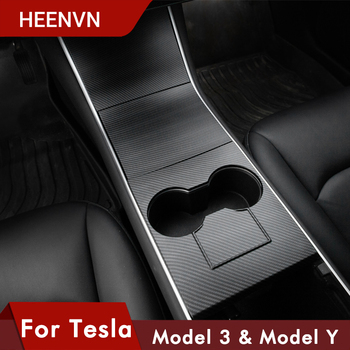Heenvn ModelY Model3 Protective Central Interior Accessories For Tesla Model 3 Carbon Fiber ABS For Tesla Model Y Car Three 2020