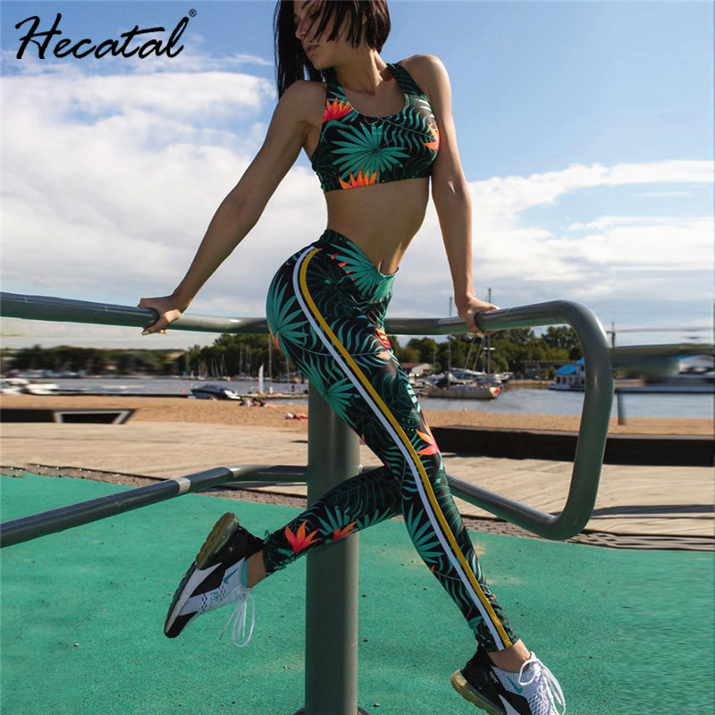 Hecatal Yoga Set Workout Clothes For Women Sports Wear For Women Gym Clothing Women Sport Set For Ladies Gym Wear Ropa Deportiva