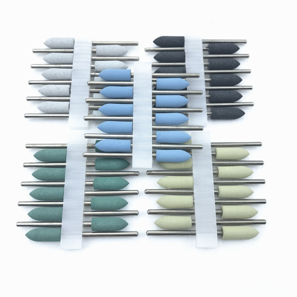 Dental SILICONE Polishers Resin Base Acrylic Polishing Burs Dental Lab Burs 2.35mm