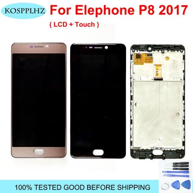 Pantalla LCD Original probada para Elephone P8 2017, montaje de digitalizador con pantalla táctil, Marco para Elephone P8 (2017) y herramientas