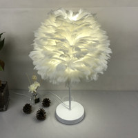 Feather Lampshade Household Multifunctional 300mm Diameter White Handmade DIY Table Lamp Wall Lamp Art Decoration Accessories
