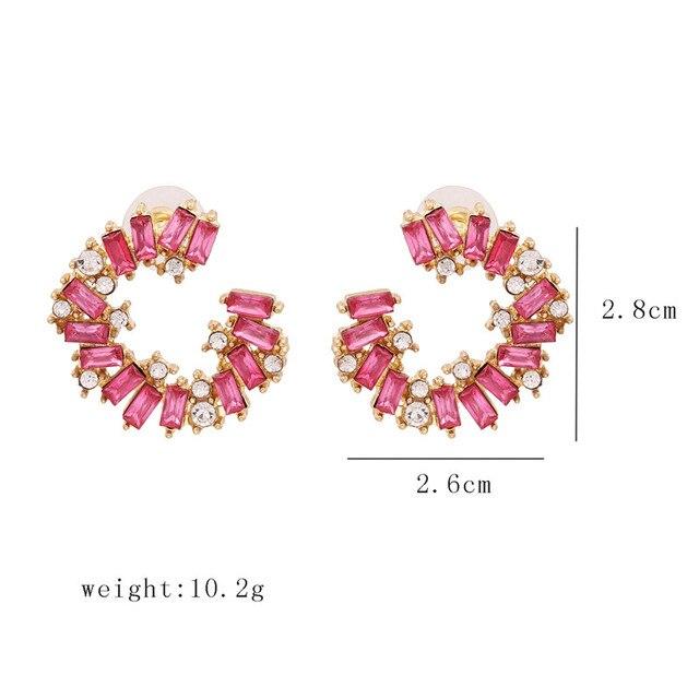 Moda snoops nueva moda de lujo de marca de diamantes de imitación gota de cristal geométrico gema diseñador Boho Pendientes Vintage con forma de gota para las mujeres y las niñas