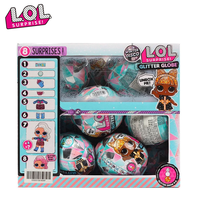 Genuine LOL Surprise Doll Demolition Demolition Ball 5th generation Winter Disco Sister Blind ball Blind box Funny egg Girl toy image