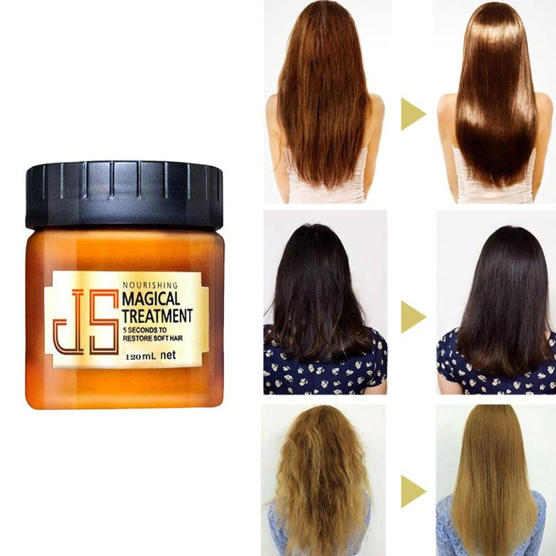 120ml Nourishing Magical Keratin Repair Hair Mask Treatment For Damaged Hair Care Baked Ointment Moisturizing Hair Conditioner image