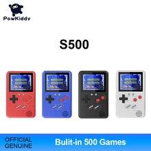 Портативная игровая консоль Powkiddy Slim, подарок для детей, 500 встроенных игр, 8 бит, ретро игры FC, Детский пазл, легко носить с собой