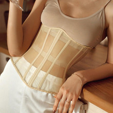 Corset Crop-Top Fashion Tank-Tops Stitching Club Mesh Patchwork Lace-Up Party Sexy Women
