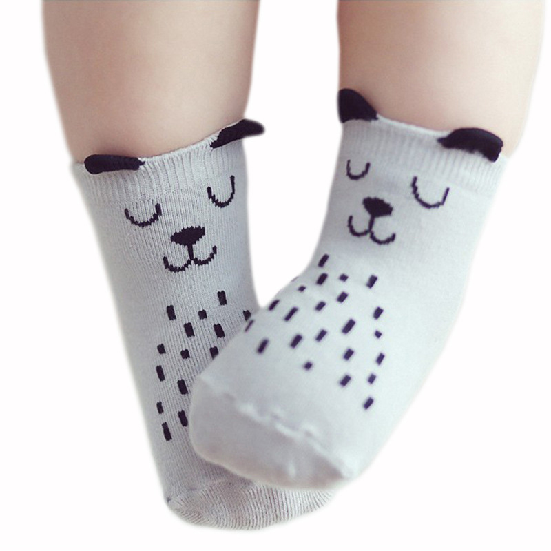 Baby Socks Rubber Anti Slip Floor Cartoon Kids Toddlers Autumn Spring Fashion Animal Newborn Cute 0-12 Months