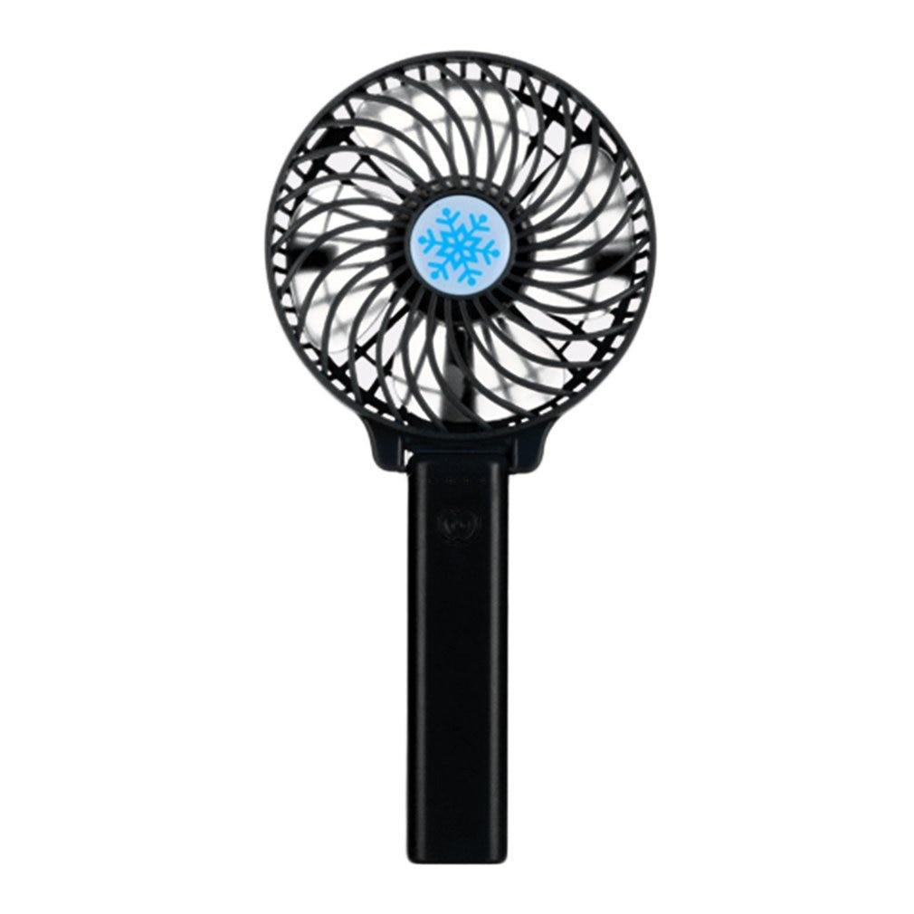 Portable Hand Fan USB Rechargeable Foldable Handheld Mini Fan Cooler 3 Speed Adjustable Cooling Fan Decor