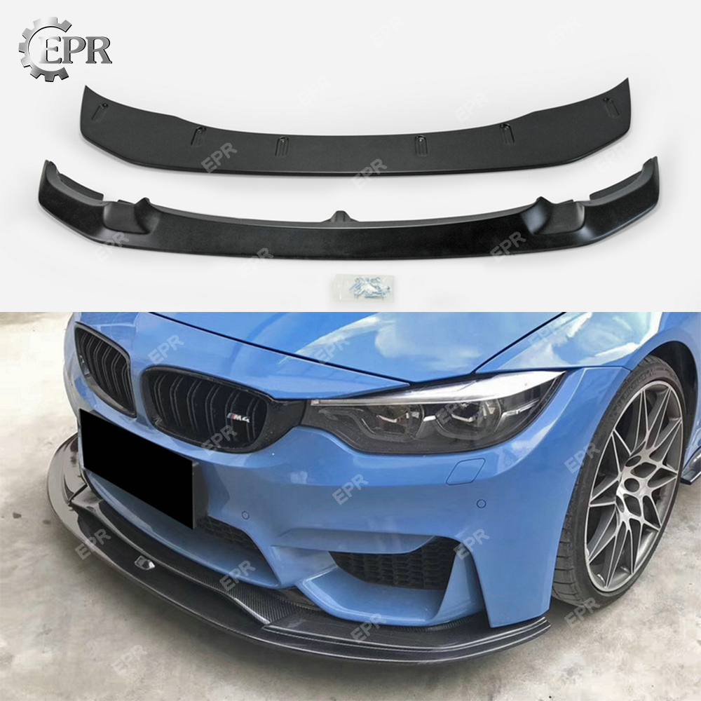 FRP Front Lip Trim For BMW F80 M3 F82 M4 2015+ GTS Style Glass Fiber 2PCS Body Kit Tuning Racing