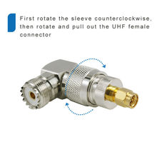 UHF SO-239 мама к UHF PL-259 папа под прямым углом 90 градусов RF разъем a dapter разъем a: UHF штекер PL259