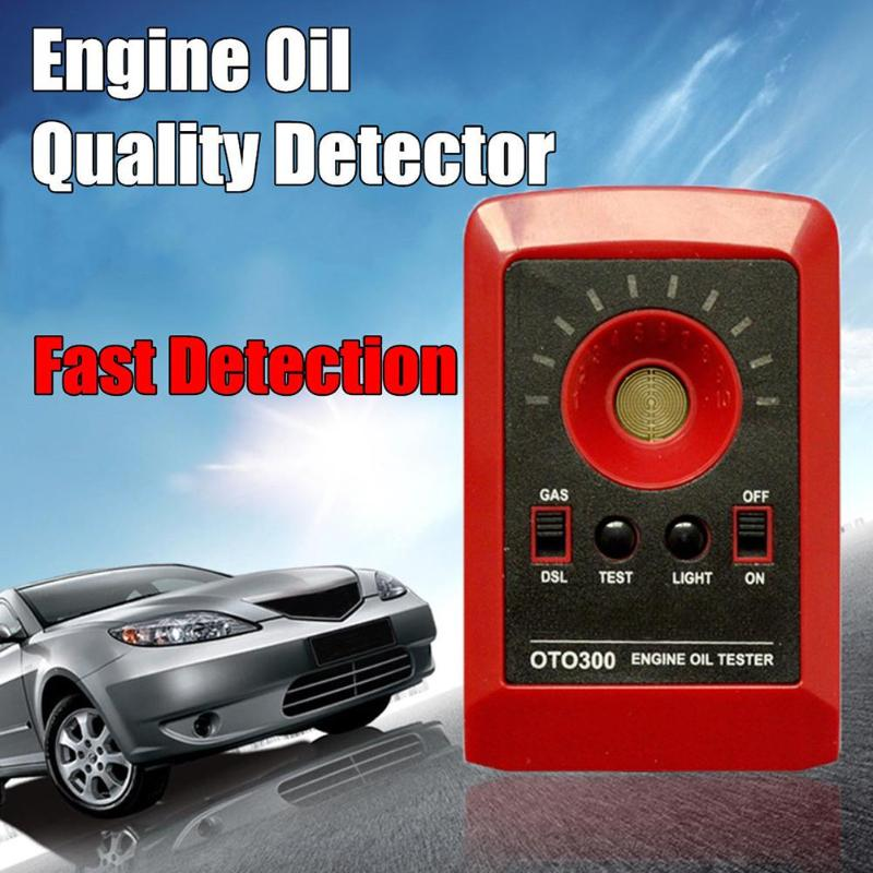 Quality Engine Motor Tester Tester OTO300 Car Quality LED Analyzer Oil Digital Automobile Car Diesel Oil Detector 12V Gas