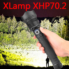 ほとんどの強力なランプ XHP70.2 ほとんど強力な懐中電灯 USB ズーム Led トーチ XHP70 XHP50 18650 または 26650 バッテリー最高のキャンプ、屋外