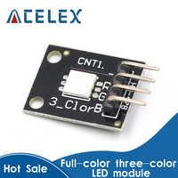 Módulo de luz LED para Arduino MCU Raspberry CF, 5 uds., KY-009, 5050 Pwm, RGB, SMD, 3 colores
