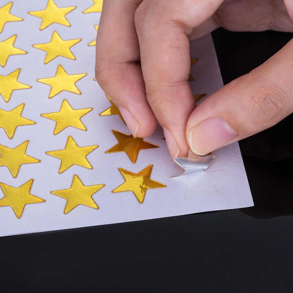 10 قطعة/الحزمة نجمة صغيرة جميلة ملصقا التسمية المعلم مكافأة للأطفال طفل الطلاب هدية الذهب اللون عشوائي القرطاسية