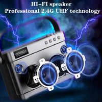 Wysokiej jakości 2.4G technologii UHF mocy 40W 30M głos przez ściany sygnał bezprzewodowy odległość przenośne karaoke głośnik