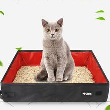 Waterproof Portable Folding Tissue Cat Litter Tray Box Petsfit for Outdoor Travel Toilet Puppy Seat
