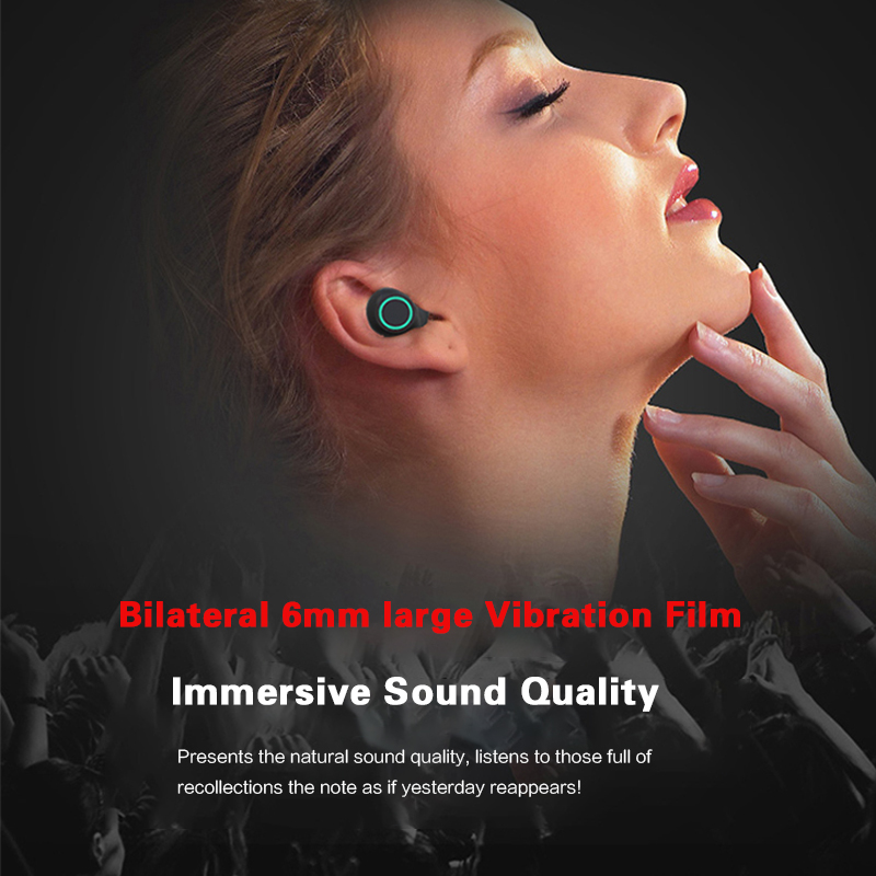 TWS Bluetooth Headphones Earbuds Wireless Bluetooth Earphones Stereo Headset Bluetooth Earphone With Mic and Charging Box in Bluetooth Earphones Headphones from Consumer Electronics