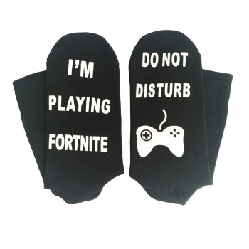 Fortnites Adult Socks Sports Stocking Breathable Letter Print Socks Girl Boy Football Sports Socks Fashion Men Street Clothes 1