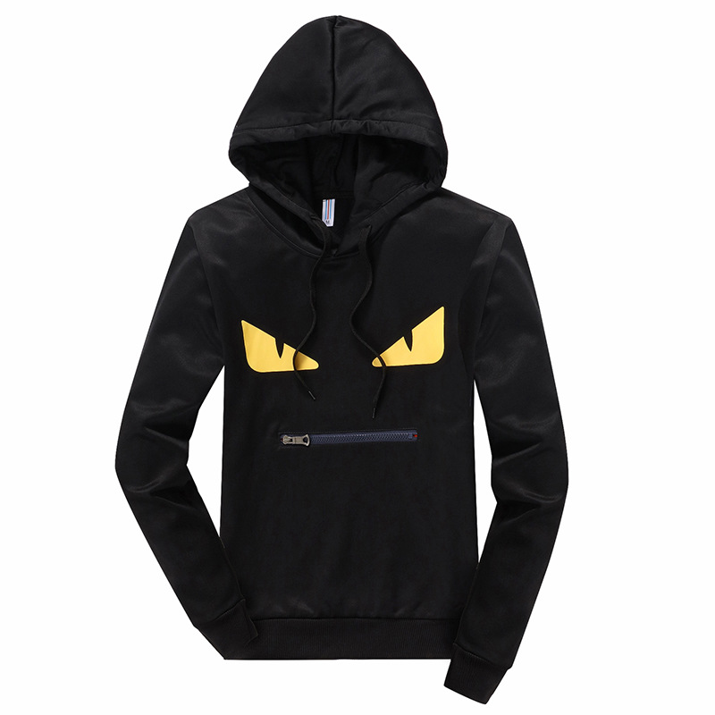 Students Sports Two Case 2018 Spring And Autumn Men's Thin Knitted Hooded Printed Hoodie Casual Case Men'S Wear Wholesale