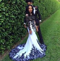 Plus Size Black Appliqued Gothic Wedding Dresses Elegant Country Style Mermaid Bridal Gowns Garden Boho Vestidos De Novia