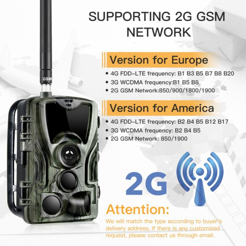 HC801M 2G Hunting Camera 16MP Trail Camera SMS/MMS/SMTP IP65 Photo Traps 0.3s Trigger Time Camera Trap Wild Cameras #ND