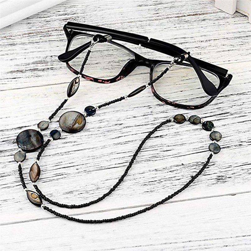 1 Pc Fashion Women Reading Glasses Chain Shell Beads Sunglasses Cord Beaded Eyeglass Lanyard Holder Strap Eyewear Necklace