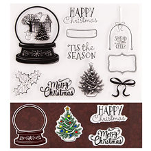 Kerstboom Clear Postzegels Kristal Bal Metalen Stansmessen en Sterven Set voor Scrapbooking Album Card Embossing craft sterven(China)