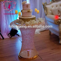 Golden silver crystal cake table wedding decoration table champagne table height 70cm